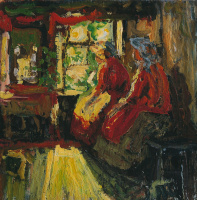 Абрам Ефимович Архипов. В весенний праздник. 1913 Этюд