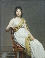Jacques-Louis David. Madame Raymond de Verninac, Henriette Delacroix, sister of the artist Eugene Delacroix
