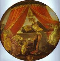 Сандро Боттичелли. Мадонна, младенец и ангел