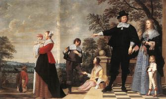 Якоб ван Ост Старший. Портрет семьи Брюгге