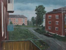 Денис Григорьевич Русаков. Лето. Балкон.