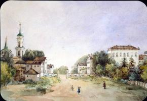С. А. Голенищева-Кутузова. Вид усадьбы в Новом Селе