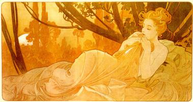 Alphonse Mucha. Flowers and dreams