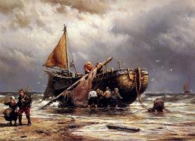 Йоханнес Херманус Куккук. Корабль на пляже
