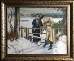 Анна Полянская. Любовные клятвы. Копия картины Вильяма Холайка