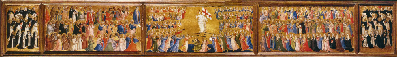 Fra Beato Angelico. Preamble of the altar of St. Dominic's Church in Fiesole