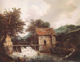 Якоб Исаакс ван Рейсдал. Водяные мельницы и открытый шлюз