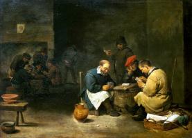 Давид Тенирс Младший. Картежники