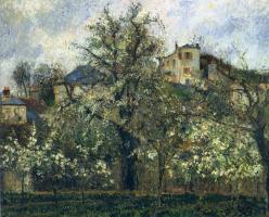 Камиль Писсарро. Фруктовый сад с цветущими деревьями. Понтуаз