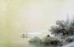 Ivan Aivazovsky. The sea off the rocky coast