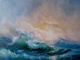 """Free copy of Aivazovsky's picture """"The Ninth Val"""""""