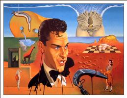 Уилсон Маклиан. Сюрреалистический пейзаж с портретом
