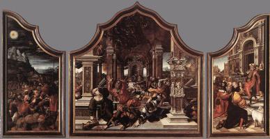 Бернард ван Орлей. Триптих Иова и Лазаря