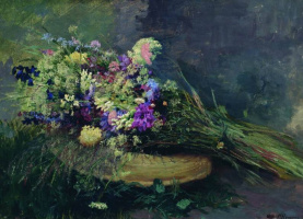 Николай Александрович Ярошенко. Полевые цветы.