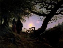 Каспар Давид Фридрих. Мужчина и женщина, глядящие на луну