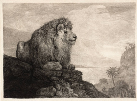 George Stubbs. Lion resting on a rock