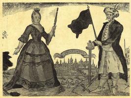 Иохан Рудольф Тиле. Русская императрица Екатерина II и турецкий султан Ахмед IV