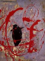 Джексон Поллок. Красный, черный и серебряный