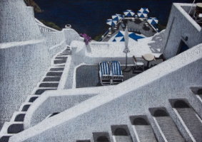 """Екатерина Ивановна Киселева. Пейзаж из серии """"Санторини"""""""
