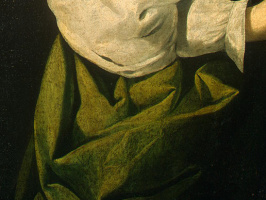 Франсиско де Сурбаран. Святая Люси (фрагмент)