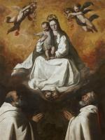 Франсиско де Сурбаран. Дева милосердия с двумя монахами из Мерсидариана