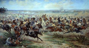 Виктор Викентиевич Мазуровский. Атака лейб-гвардии Конного полка на французских кирасир в сражении под Фридландом 2 июня 1807 года