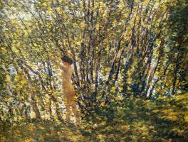 Чайльд Гассам. Обнаженная у дерева