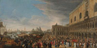 Лука Карлеварис. Прибытие французского посла в Венецию в 1706 году