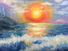 """Sea at sunset"""