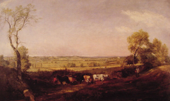 John Constable. Morning in the valley