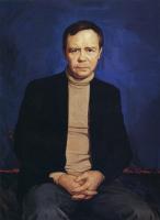 Илья Сергеевич Глазунов. Портрет писателя Валентина Распутина.1987