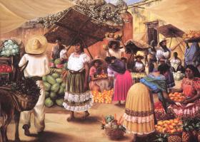 Гектор Мартинес. Женщины с фруктами