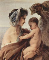 Франческо Айец. Встреча Иакова и Исава, фрагмент