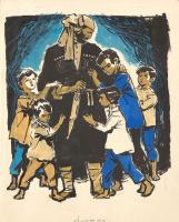 Аркадий Александрович Лурье. Джигит с детьми (обложка) 1970-е