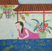Гу Юэ. Зеленый горшок с цветами