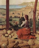 Антонелло да Мессина. Распятие с Марией и Иоанном, деталь: Иоанн Евангелист