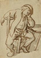 Адриан Янс ван Остаде. Сидящий за столом крестьянин