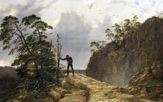 Август Маттиас Хаген. Горы