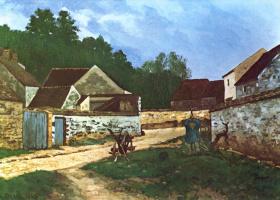 Alfred Sisley. Village street in Marlotte