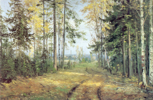 Nikolai Nikolaevich Ge. Road in the forest