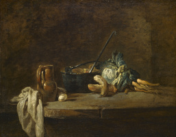 Jean Baptiste Simeon Chardin. Still life with vegetables for soup