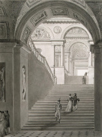 Шарль Фонтэн Пьер Персье. Вид Новой лестницы в Музее Наполеона I