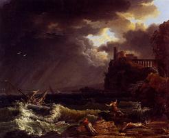 Клод Жозеф Верне. Кораблекрушение в бурю