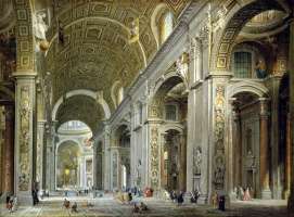 Giovanni Paolo Pannini. Interior view of St. Peter's Cathedral in Rome