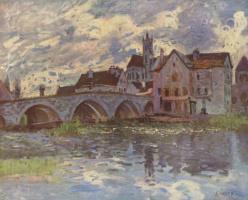 Alfred Sisley. The bridge at Moret-sur-Loing