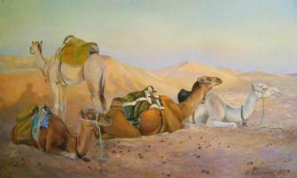 The caravan at rest