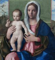 Джованни Беллини. Мадонна с младенцем (Мадонна Брера). Фрагмент