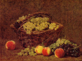 Анри Фантен-Латур. Корзина с белым виноградом