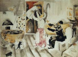 Marc Chagall. A visit to grandma and grandpa