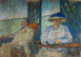 Екатерина Василевна Гольдингер. Портрет родителей. 1906
